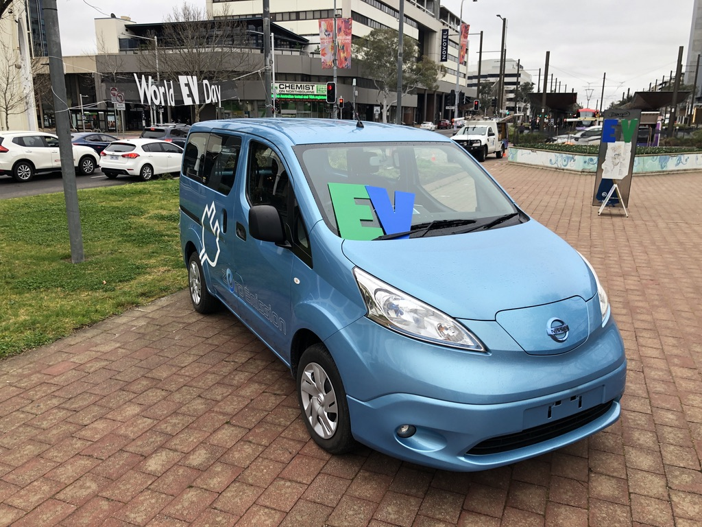 Nissan e-NV200 electric Van at World EV Day